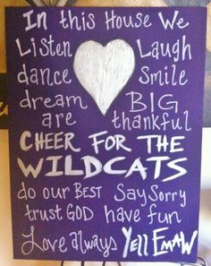 Kansas State Wildcats  18 x 24 canvas by LOVE5073 on Etsy, $60.00