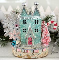 Love these houses. Picture takes you to tutorial. When you go to Victoria Magazine type in paper house for pattern, you will see Harvest project pattern. Click link for magazine. http://magazine-directory.com/Victoria.htm