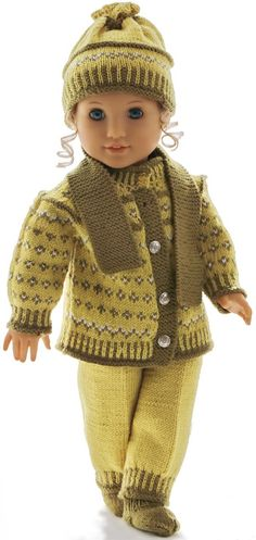 Trendy Knitting Clothes For Babies American Girl Dolls Ideas Crochet Doll Clothes, Knitted Dolls, Girl Doll Clothes, Doll Clothes Patterns, Girl Dolls, Crochet Baby Bibs, Baby Knitting, Loom Knitting Patterns, Knitting Ideas