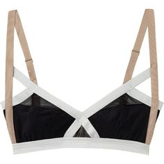 VPL Insertion Bra (€59) ❤ liked on Polyvore featuring intimates, bras, underwear, lingerie, tops, sheer black bra, transparent bra, see through bras, lingerie bras and sheer bra