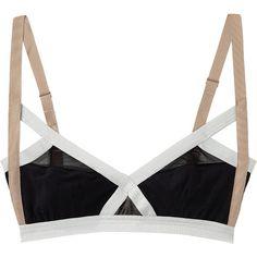 VPL Insertion Bra (485 GTQ) ❤ liked on Polyvore featuring intimates, bras, underwear, lingerie, tops, vpl bra, v neck bra, adjustable bra, vpl lingerie and lingerie bra