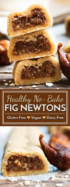 No-Bake Healthy Gluten-Free Fig Newtons | A healthy fig newton recipe that does not require any baking and is made without refined sugar. A kid-friendly, healthy, gluten free and dairy free snack or dessert! (Candy Cake Gluten Free)