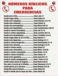 Numeros de emergencia biblicos