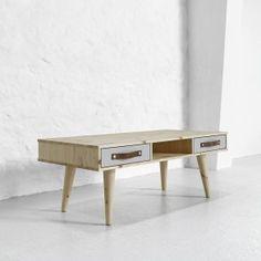 Sofabord med 2 skuffer, 55 x 120 cm