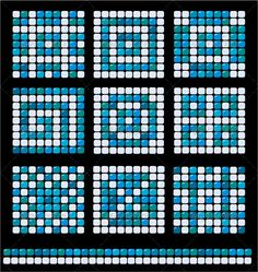 Buy Square Mosaic Pattern Backgrounds Set by on GraphicRiver. This image is a vector illustration and can be s. Mosaic Crafts, Mosaic Projects, Mosaic Art, Mosaic Glass, Mosaic Tiles, Mosaics, Glass Art, Square Tile Patterns, Floor Patterns