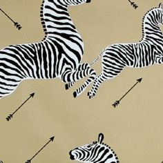 Scalamandre Zebras Gold Wallpaper - using this for Eliz street!