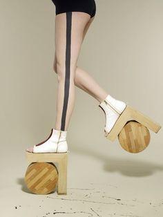 Benoît Méléard's Architectural Shoes eclectic Avant garde footwear fun