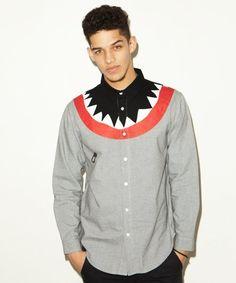 Shark Long Sleeve Shirt by Lazy Oaf - $144