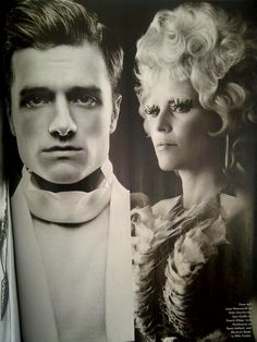 Josh and Elizabeth (Peeta & Effie) for Vanity Fair Catching Fire...i hope to see HQ version of this photo!