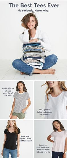 Absurdly soft shirts (and tanks) for women. Fall Outfits, Casual Outfits, Cute Outfits, Fashion Outfits, Fashion Ideas, House Of Blouse, Ethical Fashion, Diy Clothes, What To Wear