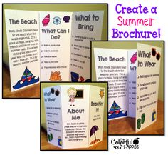 First week of school idea!  Students create a brochure about their summer.