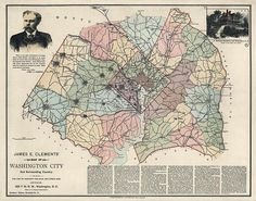 Antique map of Washington DC with Fairfax County, from 1891