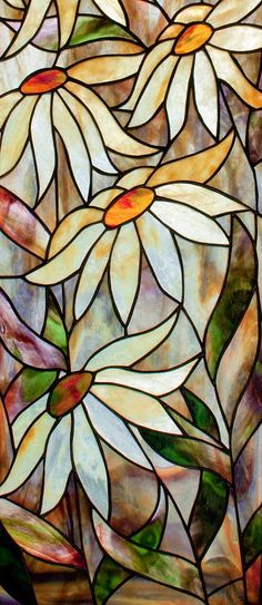Daisys by David Kennedy - Daisys Glass Art - Daisys Fine Art Prints and Posters for Sale