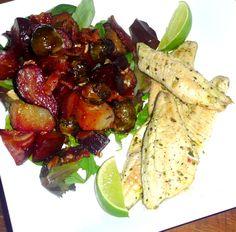 roasted beet & brussel sprout salad — PALEOdISH