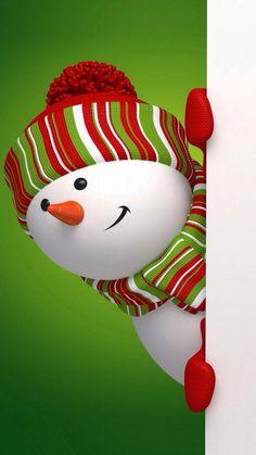 Ideas for wallpaper phone christmas snowman Christmas Snowman, Winter Christmas, Christmas Holidays, Christmas Crafts, Merry Christmas, Christmas Decorations, Holiday Decorating, Wallpaper Natal, Iphone Wallpaper