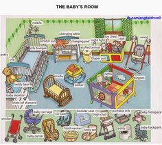 The Baby's Room English For Beginners -         Repinned by Chesapeake College Adult Ed. We offer free classes on the Eastern Shore of MD to help you earn your GED - H.S. Diploma or Learn English (ESL).  www.Chesapeake.edu