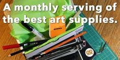 {ArtSnacks} a monthly subscription of ART SUPPLIES!! brilliant. absolutely brilliant!