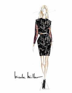 "Nicole Miller ""My Fall 2014 collection is inspired by strong, iconic women – female warriors."""