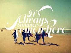 'It's Always Summer Somewhere', art print by Ju on artflakes.com