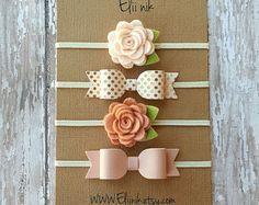 baby headband felt bow headband set mini bow headband by eliinik