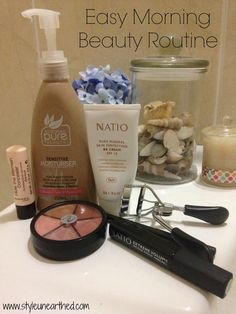 Easy Morning Beauty Routine - styleunearthed.com Morning Beauty Routine, Beauty Routines, Moisturiser, Pure Beauty, Concealer, Pure Products, Easy, Style, Swag