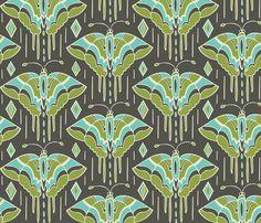 La maison des papillons fabric by heatherdutton on Spoonflower - custom fabric