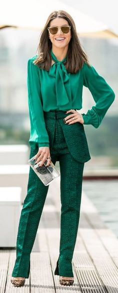 All Green Outfit Idea