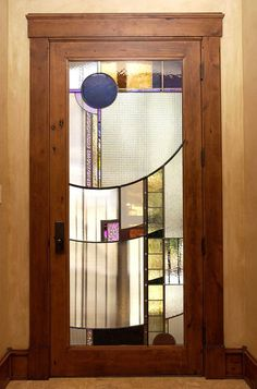 Mecho-Deco Stained Glass door, Park City, Utah Fun, modern light filled door, but would it be too modern for the house and it's setting?