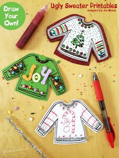 DIY Ugly Sweater Crafts with free printable by Jen Goode