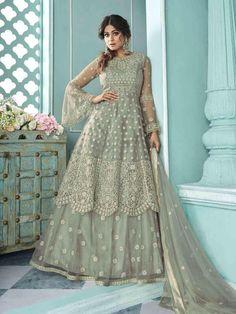 Top 5 Style Of Lehenga Suit For Any Occasion - Inddus.com Long Choli Lehenga, Lehenga Suit, Bollywood Lehenga, Lehenga Style, Net Lehenga, Party Wear Lehenga, Indian Lehenga, Anarkali Suits, Pakistani