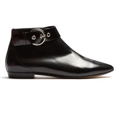 Isabel Marant Rilows point-toe leather ankle boots (352,335 KRW) found on Polyvore featuring women's fashion, shoes, boots, ankle booties, black pointed toe booties, pointed toe ankle boots, pointy-toe ankle boots, black leather boots and black ankle boots