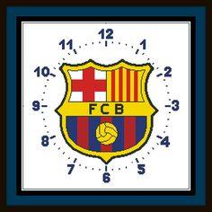 PDF Gráfico Punto de Cruz Reloj Barcelona Cross por NoahsDreams