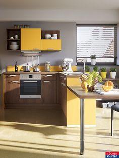 Leuchtende Farben können so harmonisch aussehen – das zeigt unsere Pura 3270. Die Natürlichkeit der Holzoptik harmoniert perfekt zum kräftigen Gelb und lässt es gleichzeitig sehr warm wirken. Mehr Infos hier: