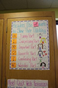 Think-marks | 21 Cool Anchor Charts To Teach Close-Reading Skills. Make a poster chart for class use and reuse. G can use these marks in the margin to show each part. this helps with understanding what was read; understanding what was read; and what to as