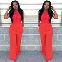 colorful Jumpsuit must be!!! not black nor white in this theme...