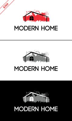 $369 House logo / interior design logo / real estate logo. This design will be customized with your brand name and color preferences once you buy it. Businesses: interior designer, renovation company, furniture store, architecture firm, real estate agency, home accessories store, home decor store, film studio, audio-video production studio, property management company, realtor, housing firm, roofing firm, house painting firm, arts & crafts supply store, DIY store, painting workshop.