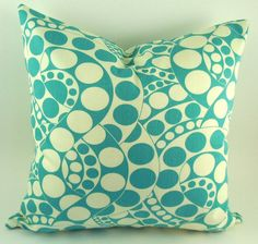 Turquoise Pillow Cover Throw Pillow by PookadellasHomeDecor, $18.50