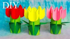Diy Crafts Videos, Diy And Crafts, Crafts For Kids, Arts And Crafts, Paper Crafts, Spring Art Projects, Spring Crafts, Cute Love Wallpapers, Christmas Paintings