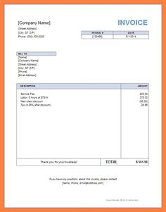 Self Employed Invoice Template Uk Free Word Printable Format In