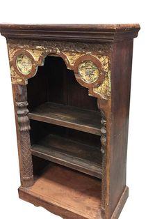 Antique Indian Arch Bookshelf Book Case Bookshelf Arched Frame