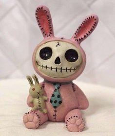 Furry Bones Pink Bun Bun Bunny Skeleton Animal Figurine Free S&H