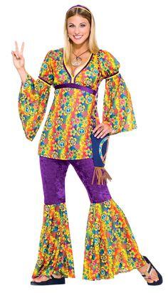 Purple Haze Hippie Costume