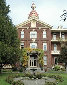 """House of Providence (""""The Academy""""), Vancouver, WA Providence Academy, Washington State History, Brick Companies, Vancouver Washington, Clark County, Evergreen State, Columbia River, Covered Bridges, Model Trains"""