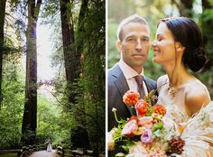 This elopement in Muir woods was so romantic and intimate; the couple looks so happy together under the sunlight shining through the redwood trees!