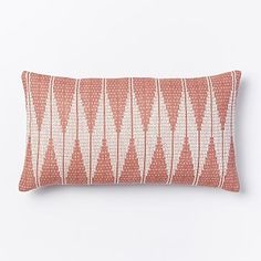 Hand-Loomed Chevron Diamond Pillow Cover - Rose Bisque #westelm PLACE ON BLACK LEATHER CHAIR BUY INSERTS!