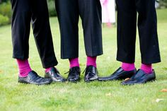 Fuchsia wedding socks