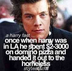This is one of many reasons why I love harry styles so much! He can always suprise me in a good way