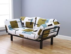 Spacely Futon Lounger  Reconstruction Fabric * Click image for more details.