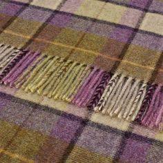 Bronte Shetland Dales Gargrave Check Throw, Lilac