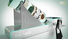 Point of Sale Product Glorifier | Point of Purchase Design | POP | POSM | POS | POP | Bacardi Superior Display by Dmitry Gelishvili, via Behance